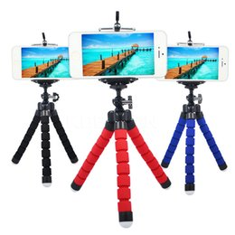 small stand for phones Promo Codes - Mini flexible portable sponge Octopus Tripod Stand Flexible for GoPro SLR DSLR DV Camera Small Camera phone Holder Stand