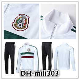 Wholesale Cups Sets - AAA+ 2018 2019 Mexico soccer Jacket training suit 18 19 World Cup Mexico tracksuit CHICHARITO national team Football jacket sportswear set