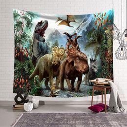 Листы динозавров онлайн-dinosaur Wall Hanging Tapestry Sheets Home Decorative Tapestries Beach Towel Yoga Mat Blanket Table Cloth Wall Tapestry w3-dz-4