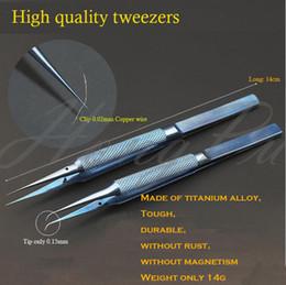 reparar reparo xperia Desconto Reparação profissional 0.15mm Ponta Fina de titânio liga de aço inoxidável reparação forte pinças de impressão digital 0.02mm linha de voar