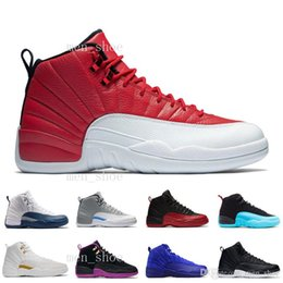 Wholesale Gray Taxi - [With Box] Cheap New Air 12 XII Mens Basketball Shoes Sneakers Women Taxi Playoffs Replicas Gamma White Gray s Shoes Sports Shoes