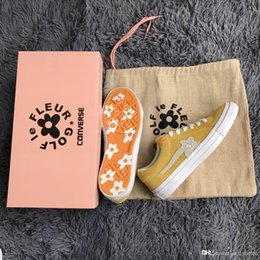 Wholesale le run - 2018 Outdoor Shoes one star X Golf le fleur TTC Outdoor Boost Neighborhood Casual Shoes Running shoes Yellow Follower Sneakers