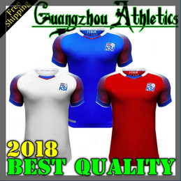 Wholesale Men S Tops - Iceland 2018 World Cup jerseys home away SIGURDSSON SIGTHORSSON top quality soccer jerseys 18 19 Iceland national football shirts
