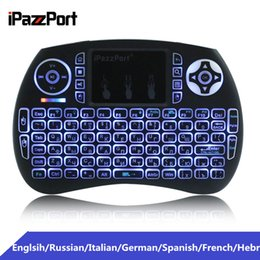 2019 ipazzport мини-клавиатура с беспроводной клавиатурой iPazzPort Mini 2.4GHz Wireless QWERTY Keyboard Portable Air Mouse with Touchpad Backlit Backlight for PC Smart TV Android TV Box дешево ipazzport мини-клавиатура с беспроводной клавиатурой