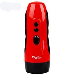 Giocattolo elettrico masturbatore online-NUOVO USB Charged 10 Velocità Vibrazione Ragazze Realistico Vagina Figa artificiale Maschio Masturbatore elettrico Giocattoli adulti del sesso per gli uomini