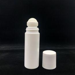 Rolos de perfume vazios on-line-100ml Rolo Branco Garrafa De Plástico Vazio Garrafas De Rolo 100CC Roll-on Bola Garrafa Desodorante Perfume Loção Recipiente De Luz