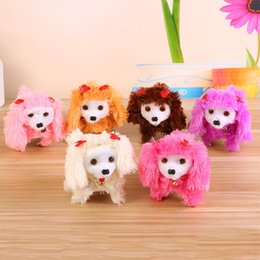 Wholesale children dogs - 2018 10 models Electronic Walking Dogs Kids Children Interactive Electronic Pets Doll Plush toys Neck Bell Barking Electronic Dog Toy OTH295
