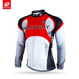Wholesale Nuckily Cycling - NUCKILY Winter Sublimation Racing Jersey Polyester Cycling Clothing for Cyclist NJ530-W