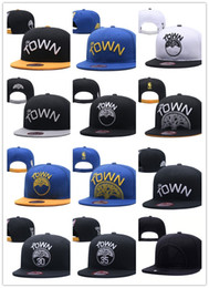 Wholesale Ball State Cap - 2018 New The Town golden state snapbacks 12 Colors new basketball Adjustable Caps Sport warriors Hats Free Drop Shipping Mix Order