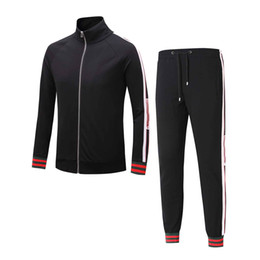 Wholesale Black Track Suits - Tracksuit Jackets Set Fashion Running Tracksuits Men Sports Suit Letter printing Slim Hoodies Clothing Track Kit black Medusa Sportswear
