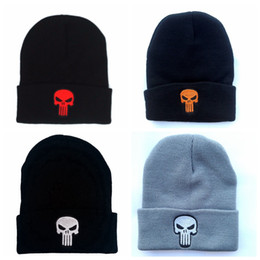 0ce33db0ac5 Chinese Designer Skull Embroidery Beanies Punisher Hats Man Woman Hip Hop  Acrylic Knit Winter Caps Hats