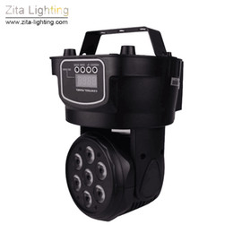 Wholesale Pro Stage Lighting - Zita Lighting Mini Moving Head Lights LED Stage Beam Spot Sharpy Wash Lighting RGBW Mixing 7X10W DMX 512 Pro DJ Disco Christmas Effect