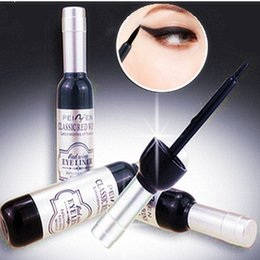Wholesale Wine Bottle Black - 2018 New Arrival Red Wine Bottle Eyeliner Waterproof Liquid Eyeliner Cosmetics Black Beauty Tools