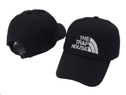 Wholesale Black House Letters - The Trap House hat peaked baseball caps Summer fashion snapback hip hop outdoor sports strapback cotton sun hats for men women
