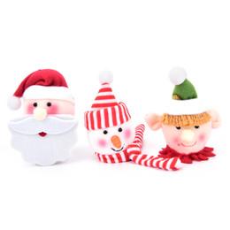 Wholesale Black Santa Ornaments - HENGHOME 1Pcs Non-woven Wine Bottle Hats Santa Claus Snowman Elf Doll Christmas Ornaments Tableware Bottle Decorations