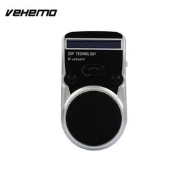 solar car bluetooth Promo Codes - Vehemo Sun Visor Solar Charging Bluetooth Car Kit MP3 Stereo Bluetooth Car Hands-Free Wireless Transmitter Universal