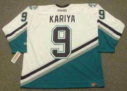 d7d388f8d 2018 Custom Men Women Youth PAUL KARIYA Anaheim Mighty Ducks 2003 CCM Home  Hockey Jersey Goalie-cut Top-quality Any Name Any Number