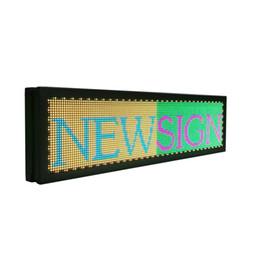 """Wholesale p4 led - 21""""x6"""" Programmable LED Scrolling Message Sign Indoor P4 full color led advertising Display Board"""