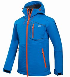 Wholesale Fleece Black Jacket - Wholesale MEN Outdoor Shell Jacket Winter Brand Hiking Softshell Jacket Men Windproof Waterproof Thermal For Hiking Camping