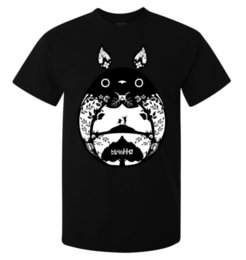 Alta obra de arte online-My Neighbor Totoro Minimalistic Artwork camiseta para hombre (mujer disponible) camiseta negra de alta calidad para impresión casual