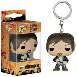 Wholesale Meat Hand - Funko Pop Walking Dead Meat Keychain Surrounding Toys Daryl Pendant Hand Hanging Colorful Package Lovely Gift