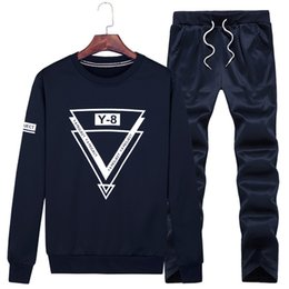 Wholesale 6xl men sweaters - 6XL 7XL 8XL 9XL Big Size Men Sportsuits Fitness Sweater Set Knitting Warm Man Gym Clothing New Running Jogging Suit Male