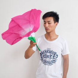 open cloth party Promo Codes - New Creative Artificial Flower Home Wedding Party Decorative Simulation Hand Flowers Beautiful Fake Morning Glory Stage Show Prop 25sy C