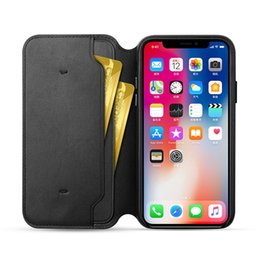 Wholesale Leather Folio Wallet - Original PU Leather Folio Wallet Case Auto Sleep Function Official Flip Smart With Card Slot Cover for Apple iPhone X with Retail Package