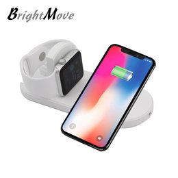 Wholesale quick watch - For Apple Watch Wireless Charger pad Fast Charging Ultra Slim Dock Station Charge Pad For iWatch 3 2 iPhone X 8 samsung s8