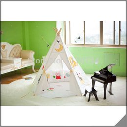Wholesale Kids Play Teepee - 100% cotton canvas elephant kids play tent toy tent child teepee indian style