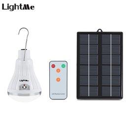 2019 controlador regulable Lightme 20 LED Dimmable Panel Solar Lámpara de Luz con Control Remoto para Patio de Jardín Acampar Senderismo Uso en el Exterior 7 Días Entregado rebajas controlador regulable