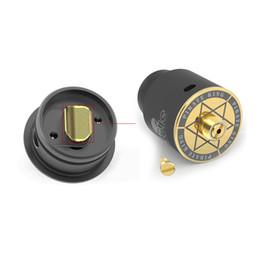 Vap mod reis on-line-Original Riscle Pirata Rei 2 RDA Vape v2 24mm Criativo Micro Airholes Design Rebuildable Atomizador melhor sabor para Vape Mod