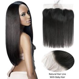 Canada Beauté On Line Hair Oreille à Oreille Péruvienne Droite Dentelle Frontale 13