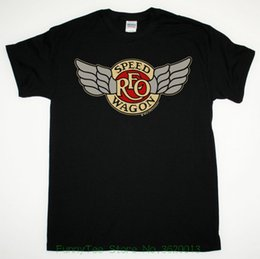 2020 camiseta boston Reo Speedwagon Tour 1981 Tee Camiseta negra Hard Rock Boston Styx Kansas camiseta boston baratos