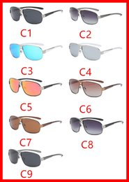 Wholesale Two Color Frame Glasses - Men's Polarized Sunglasses Classic Brushed Metal Two-Plated Glasses Anti-UV UV Grade UV400 sunglasses a variety of styles