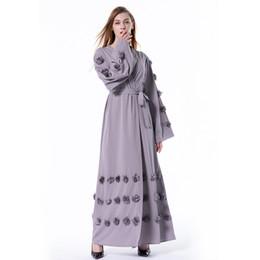4d3b53d3458 Wholesale Factory Price Muslim Women Floral Abaya Dress S-5XL Plus Size  Islamic Women Long Sleeve Maxi Cardigan