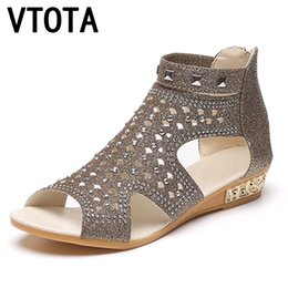 Wholesale rome sandals gold - VTOTA Sandals Women Sandalia Feminina 2017 Casual Rome Summer Shoes Fashion Rivet Gladiator Sandals Women Sandalia Mujer B67