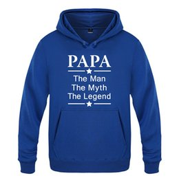 Papa father s day gifts on-line-Fathers Day Gift Mens Hoodies Papa O homem o mito a letra da cópia Masculino Moletons