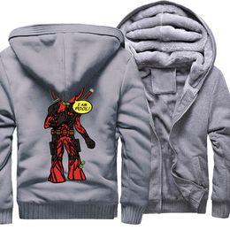 eacb33f66aad Men s Sweatshirt Print Cartoon DEADPOOL GROOT Funny Jacket Male 2018 Autumn  Winter Thick Zipper Hoodies Men Streetwear Jackets supplier bape winter  jacket