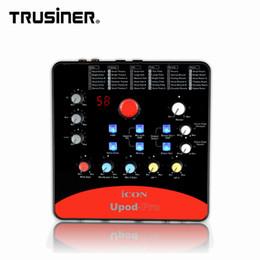 Professionnel de la guitare en Ligne-Carte son externe ICON Upod Pro Professional 2 entrées micro / 1 entrée audio 2 entrées pour guitare et interface d'enregistrement DSP Interface audio DSP Alimentation fantôme 48 V intégrée