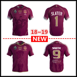 Wholesale flash cotton - 2018 2019 MENS MAROONS CAMERON SMITH JERSEY Queensland QLD Maroons MENS BILLY SLATER rugby Jerseys NRL National Rugby League shirt
