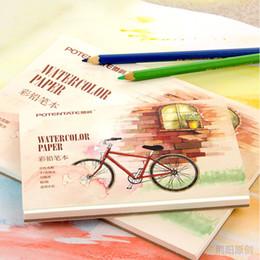 Papier crayon de couleur en Ligne-Livre de couleur livre aquarelle papier à colorier croquis livre pour concepteur d'art étudiant dessin peinture fournitures scolaires