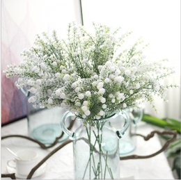 celebrar o natal Desconto Babysbreath White Snow flor artificial flores de Natal casa decoração melhoria home casamento comemorar decorar 1