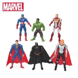 6 unids / lote 10.5 cm Marvel Toys The Avengers Set Superhéroe Batman Thor Hulk Capitán América Acción Resina Modelo Figuras Muñeca Al por mayor desde fabricantes