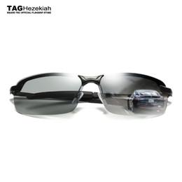 Wholesale Polished Sunglasses - 2017 Sunglasses Men's Driver Chameleon Glasses Anti-UV Fashion Tide Super Light Polishing Sunglasses photochromic oculos de sol