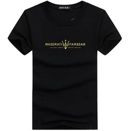 Wholesale Mens Fashion Shirts Big Size - Mens T Shirts Brand Designer Summer Top maserati Print Fashion Casual Tees O Neck Hip Hop Street Style Luxury Cool Shirt Big Plus Size 5xl