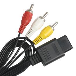 Nintendo видеоигры онлайн-1.8 м 6FT AV TV RCA видео кабель шнур для игры куб / для SNES GameCube / для Nintendo для N64 64 игровой кабель 100 шт. / лот