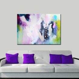 Telai di pittura ad olio moderna online-100% Handmade semplice pittura a olio astratta moderna parete di arte pittura su tela senza cornice Home Decor