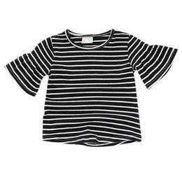 Argentina Camisas de las niñas Lotus manga de la camiseta de la raya Camisetas de los niños Tops niñas Sudaderas Verano Ropa para bebés supplier lotus t shirts Suministro