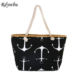 d9a99e7985 Rdywbu Women Large Capacity Summer Bag Hemp Rope Straw Weave Printed Anchor Canvas  Bag Shopping Big Tote Beach Bag 6 Colors H191 Y18102403